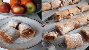 Rulouri cu mere rețetă de post