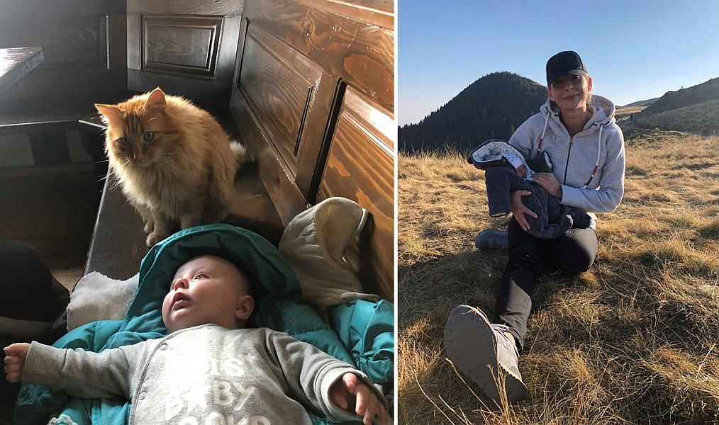 Pe drumuri montane cu bebelușul de la vârsta de 9 zile