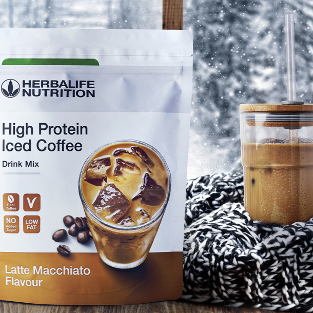 cafea cu gheață herbalife High Protein Iced Coffee