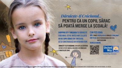 Shopping City Timișoara ajută 100 de copii să meargă la școală
