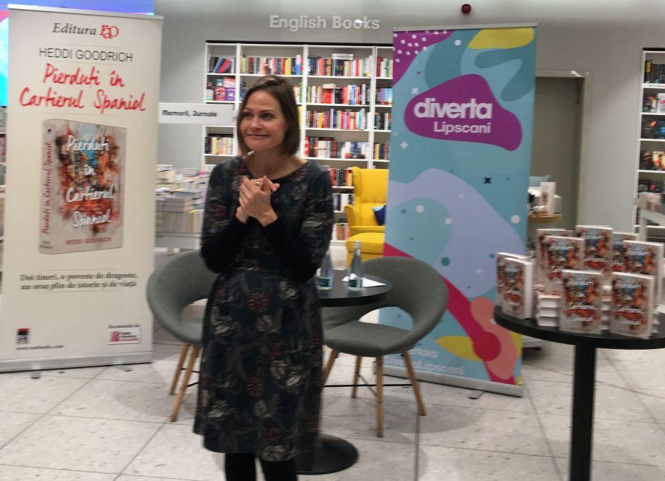 Heddi Goodrich la Bucureşti, lansare Diverta