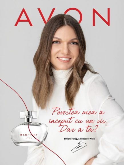 AVON lansează HERSTORY, parfum al cărui imagine e Simona Halep