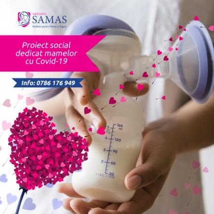 SAMAS lanseaza un program pentru mamele cu covid-19 şi bebeluşii lor