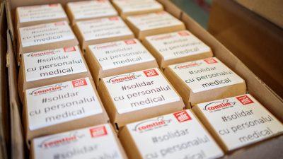 Comtim şi Elit donează 400 de porţii personalului medical