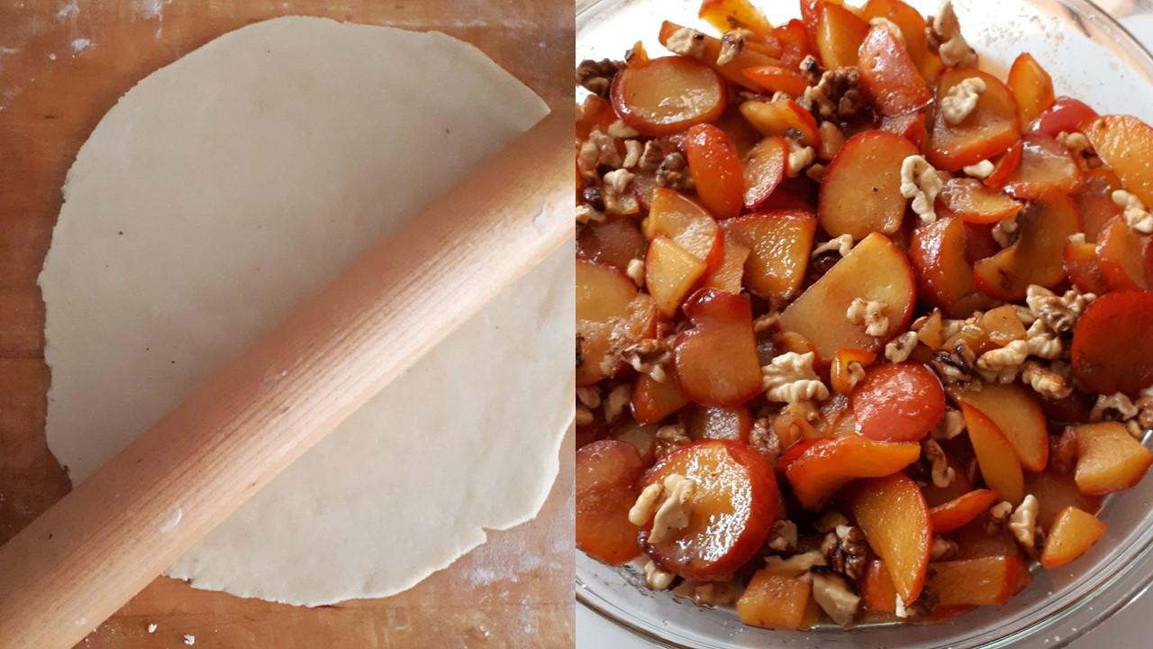 Aluatul de tartă şi prepararea prunelor