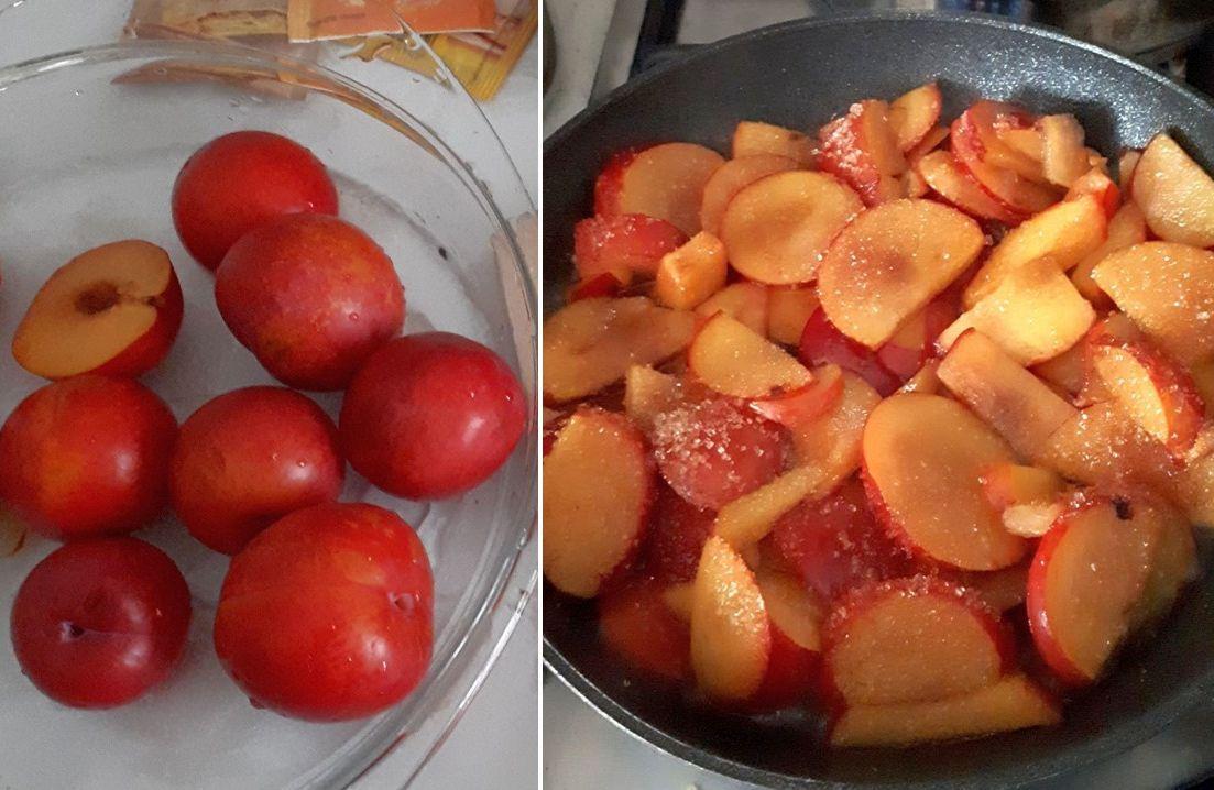Prunele pentru tartă