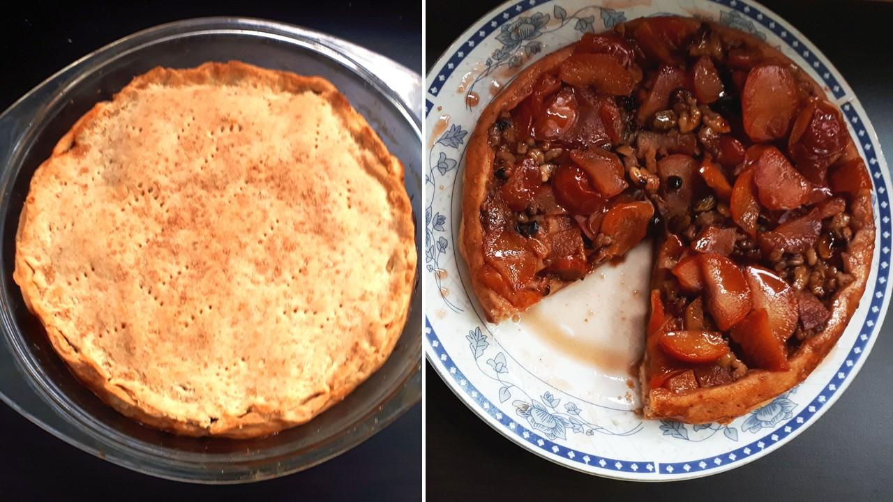 Reţeta de tartă cu prune răsturnată