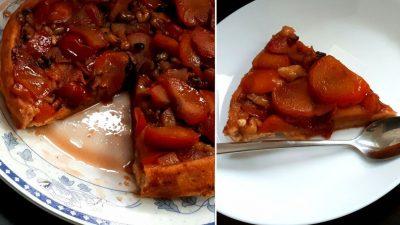 Tartă cu prune răsturnată, delicioasă şi uşor de făcut