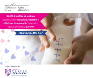 samas cu sprijinul financiar Active Citizens Fund România ajuta 70 de mame cu covid
