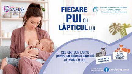 Fiecare pui cu lapticul lui campanie hrănire bebeluși