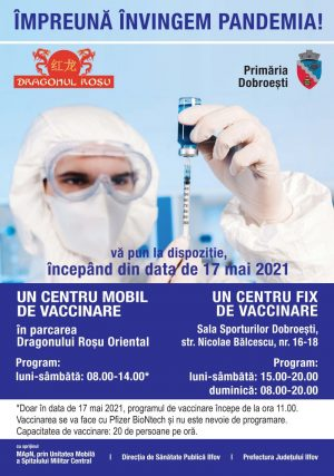 Centru de vaccinare la Dragonul Roșu