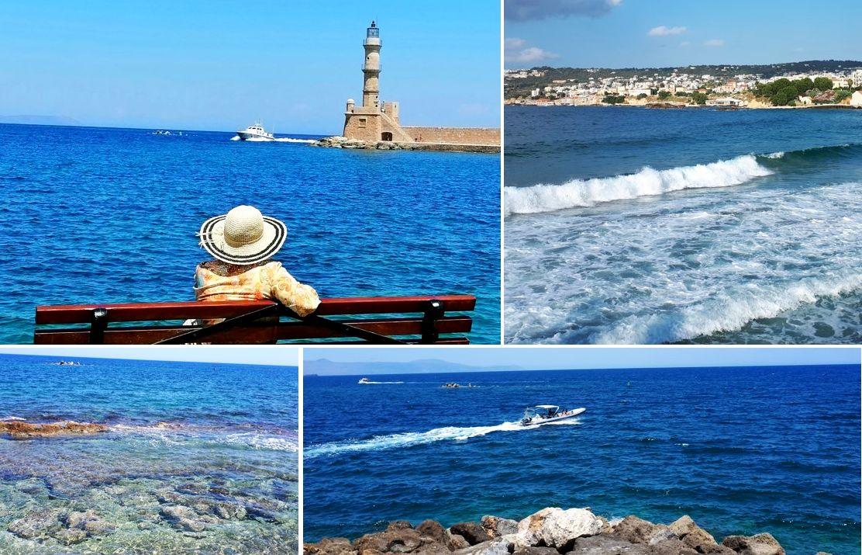 Chania, vechiul port și farul, Insula Creta