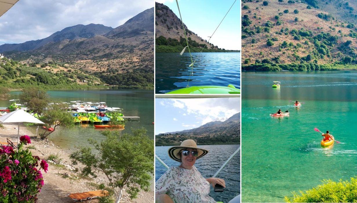 Lacul Kournas, Creta, Grecia