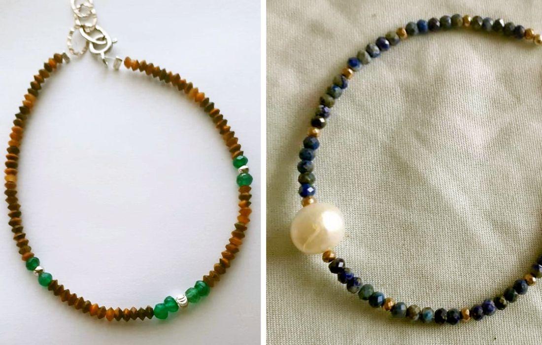 cristale de jad și lapis lazuli