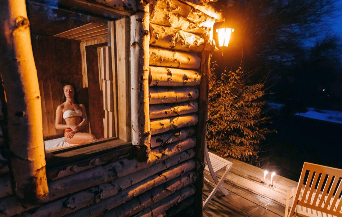 Sauna din pădure, Zabola Estate