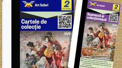 Cartele de colecție la metrou cu mini-reproduceri de artă