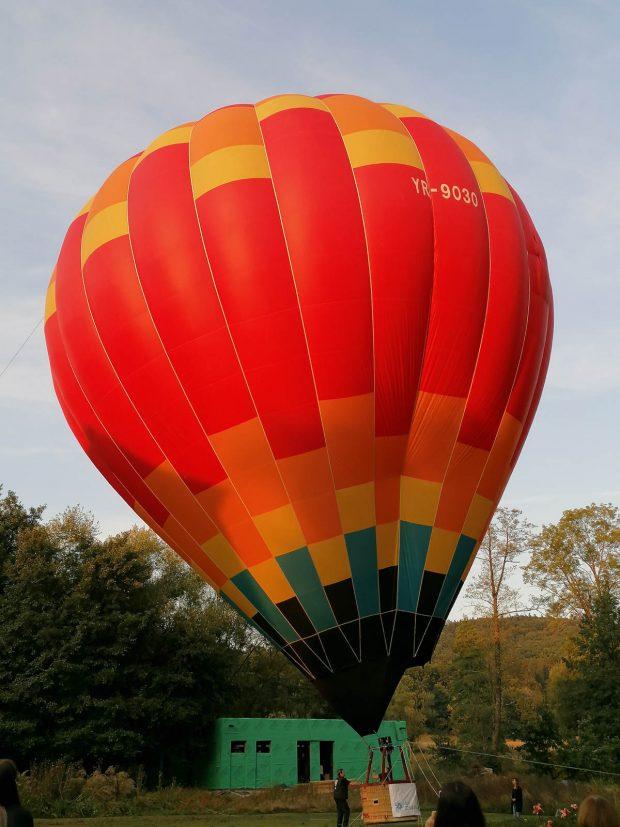 Cu balonul la Zabola Estate Transylvania